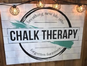 chalk therapy front desk sign