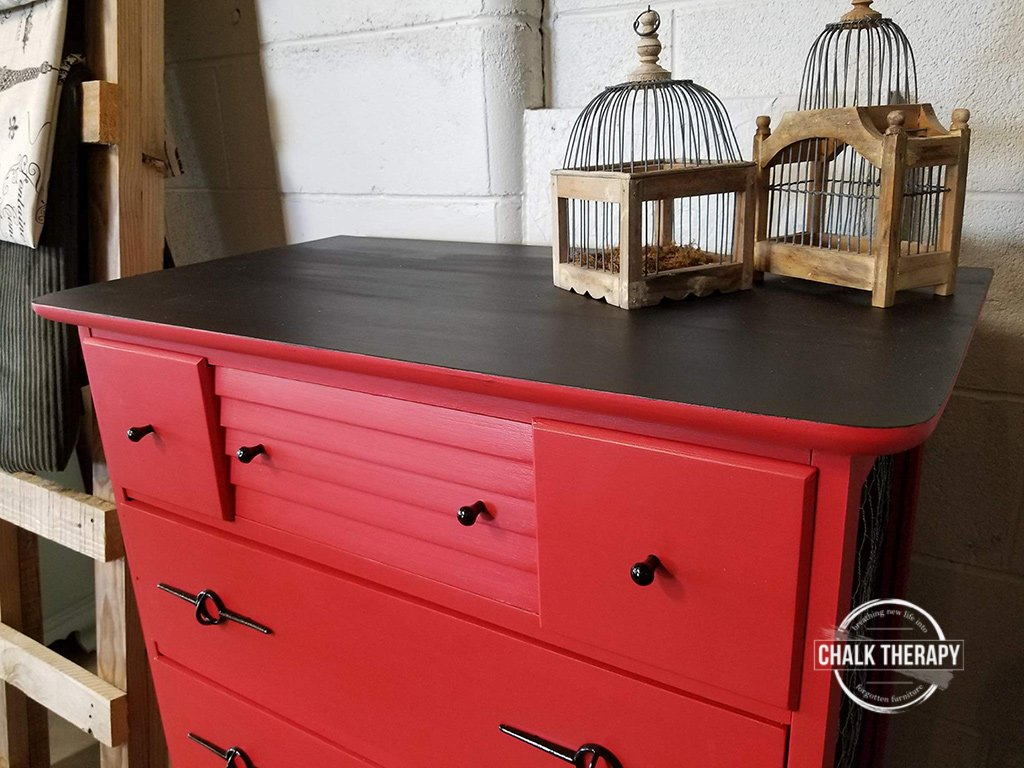 fusion fort york red 4 drawer dresser