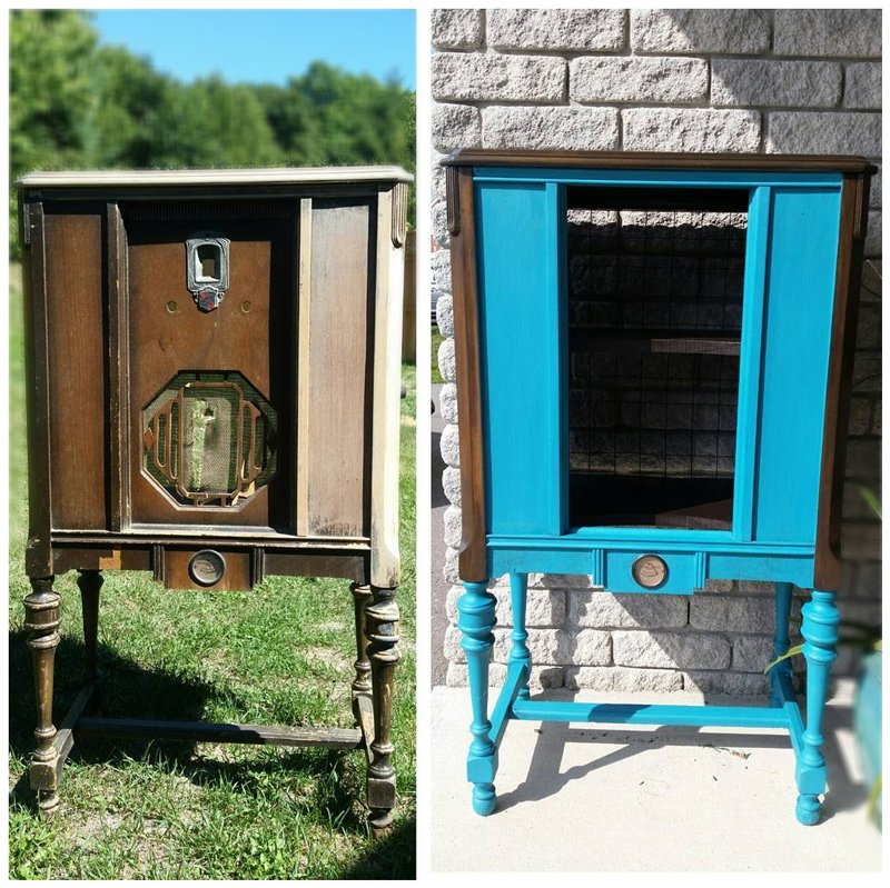We use chalk paint, mineral paint, and clay-based paint to refinish or redesign vintage, antique furniture