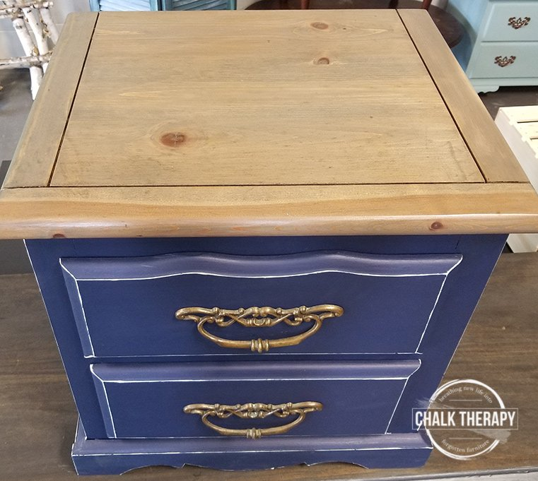 country chic peacoat side table