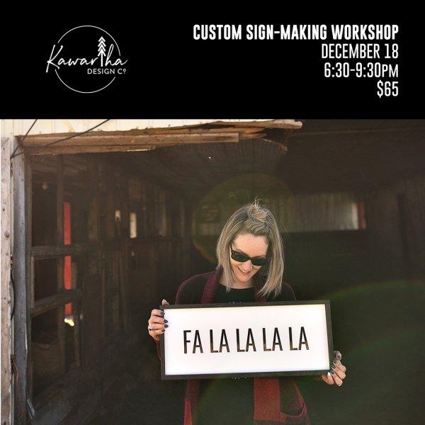 Kawartha Design Co Custom Sign-Making Workshop