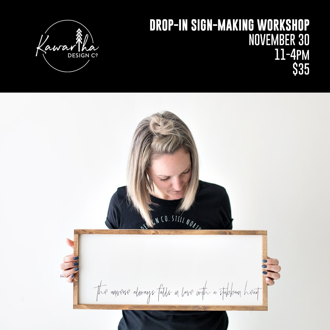 Kawartha Design Co Workshop