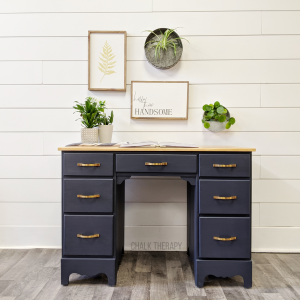 Midnight Blue Natural Stain Top Desk