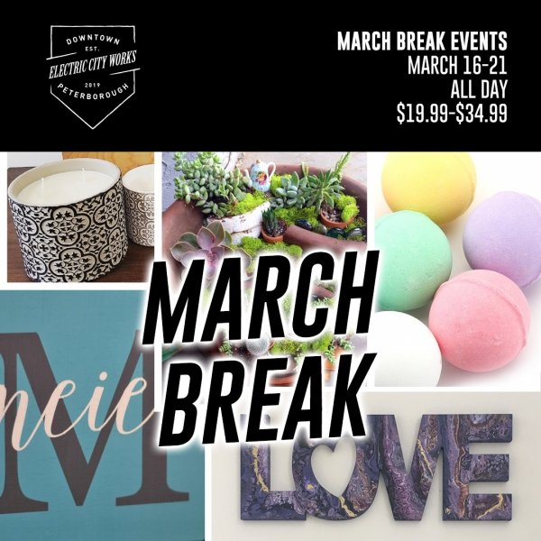 March Break Kids Workshops Peterborough