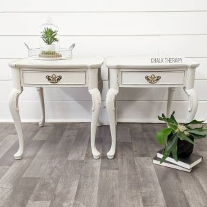 Goddess Ashwagandha French Provincial Side Tables with Drawers
