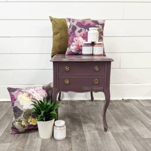 Twilight Geranium 2 Drawer Side Table